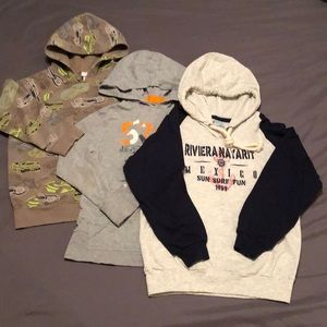 Other - 3 Boy's Hooded Sweatshirts